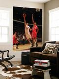 Houston Rockets v Toronto Raptors: Jose Calderon and Chuck Hayes Art by Ron Turenne