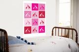 Pink Giraffe Squares Affiches par  Avalisa