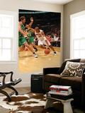 Boston Celtics v Toronto Raptors: Leandro Barbosa and Semih Erden Poster by Ron Turenne