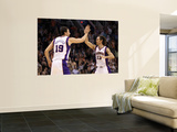 Denver Nuggets v Phoenix Suns: Steve Nash and Hedo Turkoglu Print by Christian Petersen