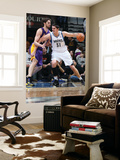 Los Angeles Lakers v Minnesota Timberwolves: Darko Milicic and Pau Gasol Print by David Sherman