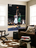 Boston Celtics v Atlanta Hawks: Shaquille O'Neal and Al Horford Prints by Scott Cunningham