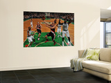 Portland Trail Blazers v Boston Celtics: Brandon Roy and Shaquille O'Neal Prints by Brian Babineau