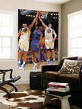 Detroit Pistons v Golden State Warriors: Andris Biedrins, Vladimir Radmanovic and Ben Wallace Posters by Rocky Widner