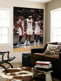 Phoenix Suns v Miami Heat: Dwyane Wade, LeBron James and Chris Bosh Posters by Andrew Bernstein