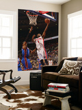 New York Knicks v Detroit Pistons: Rodney Stuckey and Amar'e Stoudemire Posters by Allen Einstein