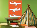 Orange Planes Affiche par  Avalisa