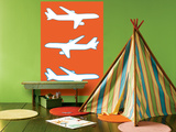 Orange Planes Print by  Avalisa