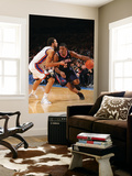Atlanta Hawks v New York Knicks: Joe Johnson and Landry Fields Posters by Jeyhoun Allebaugh