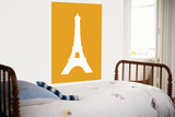 Orange Eiffel Tower Poster by  Avalisa