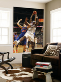 New York Knicks v Charlotte Bobcats: Kwame Brown and Timofey Mozgov Posters by Kent Smith