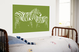 Green Zebra Posters by  Avalisa