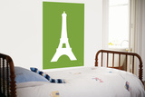 Green Eiffel Tower Prints by  Avalisa