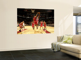 Houston Rockets v Toronto Raptors: Luis Scola and DeMar DeRozan Prints by Ron Turenne