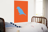 Orange Bird Silhouette Affiches par  Avalisa