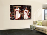 Phoenix Suns v Miami Heat: LeBron James and Dwyane Wade Art by Victor Baldizon