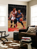 Orlando Magic v Chicago Bulls: Jameer Nelson and Derrick Rose Prints by Gary Dineen