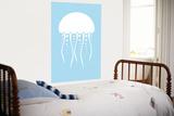 Blue Jellyfish Art by  Avalisa