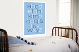 Blue Alphabet Prints by  Avalisa