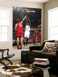 New Jersey Nets v Sacramento Kings: Samuel Dalembert and Brook Lopez Prints by Don Smith