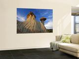 Badlands Formations at Makoshika State Park in Glendive, Montana, USA Art by Chuck Haney