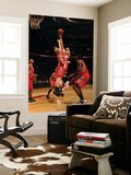 Houston Rockets v Toronto Raptors: Linas Kleiza and Chase Budinger Prints by Ron Turenne