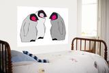 Pink Penguins Poster par  Avalisa