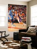 Denver Nuggets v Phoenix Suns: Nene Hilário and Steve Nash Prints by Barry Gossage