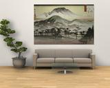 Aftenklokken ved Mii-templet Posters af Ando Hiroshige
