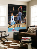 Charlotte Bobcats v New Orleans Hornets: Nazr Mohammed and David West Prints by Layne Murdoch