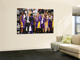 Los Angeles Lakers v Utah Jazz: Pau Gasol, Matt Barnes and Kobe Bryant Prints by Melissa Majchrzak