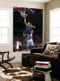 Washington Wizards v Detroit Pistons: JaVale McGee and Jason Maxiell Print by Allen Einstein