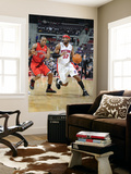 Toronto Raptors v Detroit Pistons: Richard Hamilton and DeMar DeRozan Print by Allen Einstein