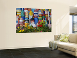 Colorful Buoys on Wall, Rockport, Massachusetts, USA Posters by Adam Jones