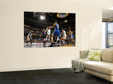 Golden State Warriors v Memphis Grizzlies: Monta Ellis and ris Biedrins and Marc Gasol Print by Joe Murphy