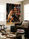 San Antonio Spurs v Golden State Warriors: Tim Duncan and David Lee Print by Jed Jacobsohn