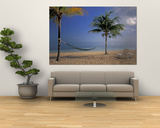 Beach Scene at The Inn at Bahama Bay, Grand Bahama Island, Caribbean Print by Nik Wheeler