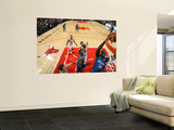 Orlando Magic v Chicago Bulls: Brandon Bass, Dwight Howard, Joakim Noah and Kyle Korver Posters by Gary Dineen