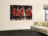 Chicago Bulls v Phoenix Suns: Derrick Rose, Joakim Noah and Kyle Korver Prints by Christian Petersen