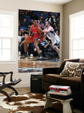 Los Angeles Clippers v Minnesota Timberwolves: Jarron Collins and Kevin Love Print by David Sherman