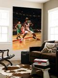 Boston Celtics v Toronto Raptors: Amir Johnson and Kevin Garnett Art by Ron Turenne