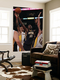 Indiana Pacers v Los Angeles Lakers: Pau Gasol, Roy Hibbert and Matt Barnes Prints by Jeff Gross