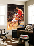 Toronto Raptors v Detroit Pistons: Ben Gordon and Andrea Bargnani Print by Allen Einstein