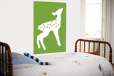 Green Fawn Poster by  Avalisa