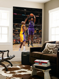 Sacramento Kings v Los Angeles Lakers: Jason Thompson and Lamar Odom Prints by Noah Graham