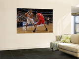 Houston Rockets v Dallas Mavericks: Dirk Nowitzki and Luis Scola Poster by Danny Bollinger