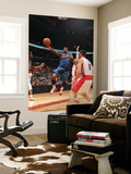 Washington Wizards v Toronto Raptors: Andray Blatche and Linas Kleiza Prints by Ron Turenne