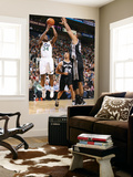 San Antonio Spurs v Utah Jazz: C.J. Miles and Tim Duncan Prints by Melissa Majchrzak