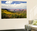 Castle Valley From La Sal Mountains With Fall Color in Valley, Utah, USA Posters by Bernard Friel