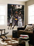 Los Angeles Lakers v Utah Jazz: Kobe Bryant, C.J. Miles and Francisco Elson Prints by Melissa Majchrzak